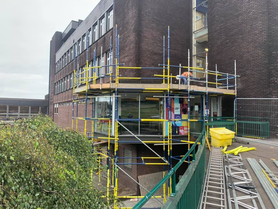 Commercial scaffolding erection carried out in Edinburgh