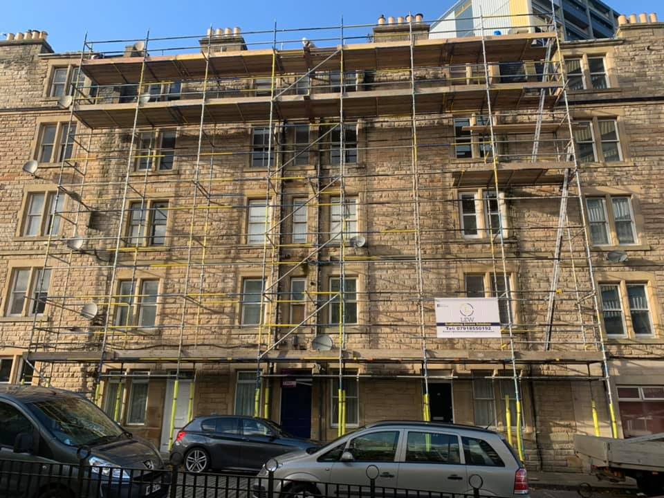 Domestic scaffolding erection carried out in Edinburgh